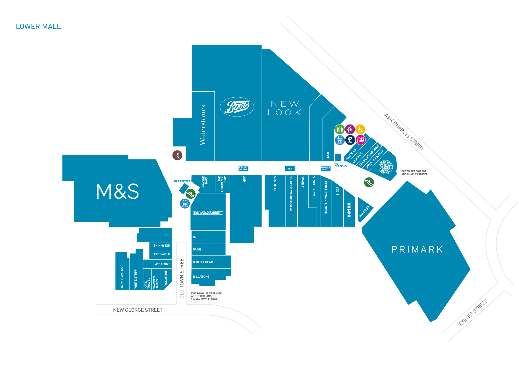 Centre map | Drake Circus Shopping in Plymouth | Shops & Restaurants on