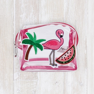 Paperchase Glamingo patches makeup bag