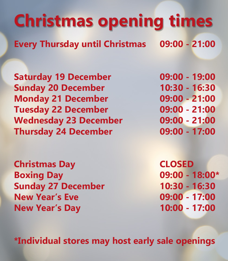 Christmas opening times | St Stephen's Shopping in Hull | Shops ...