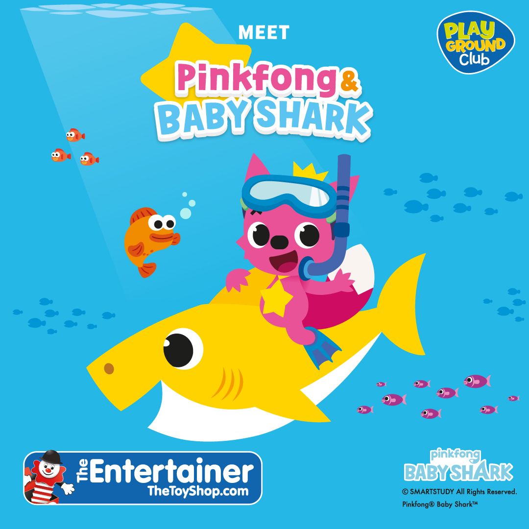 Baby Shark and Pink Fong at The Entertainer