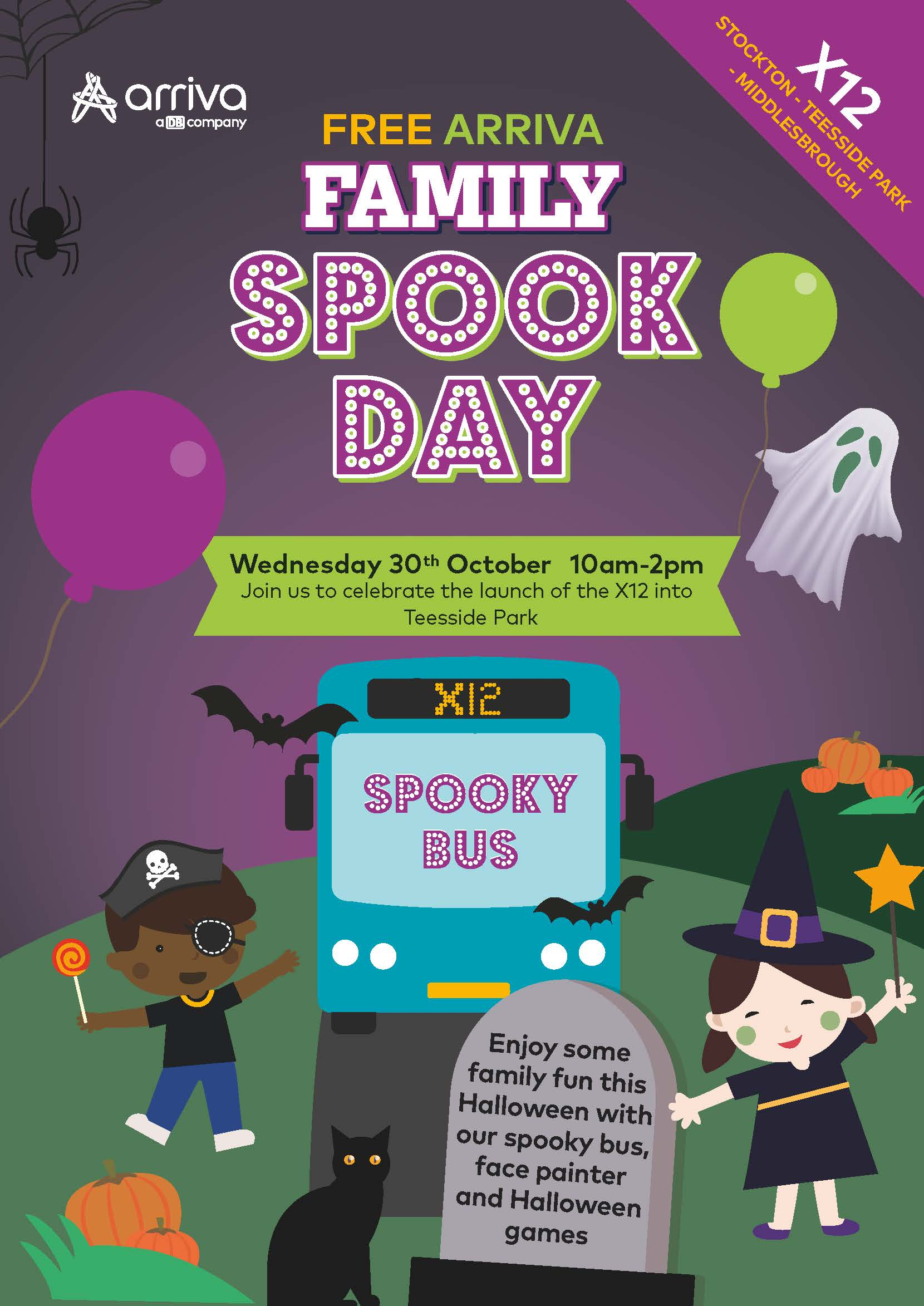 Halloween event with Arriva