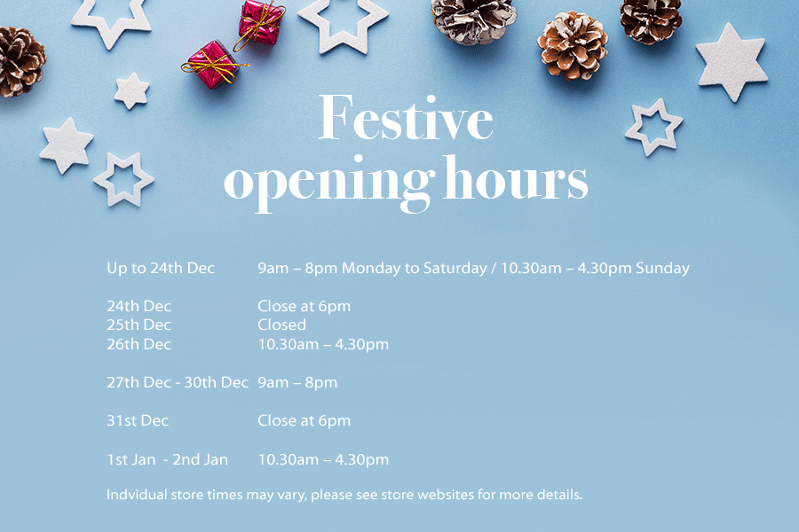 Festive opening hours whiteley shopping in fareham shops open today m4hsunfo